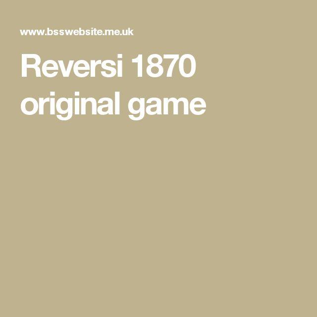 Reversi 1870 original game