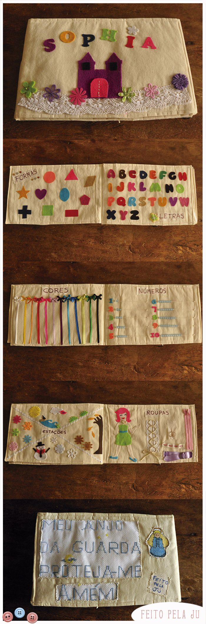 Livro educativo de tecido. Formosura <3 <3 <3