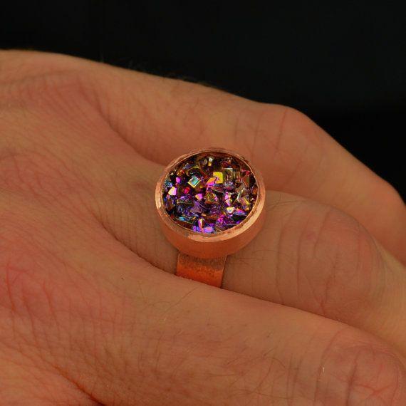 Bismuth Crystal Ring October 2017