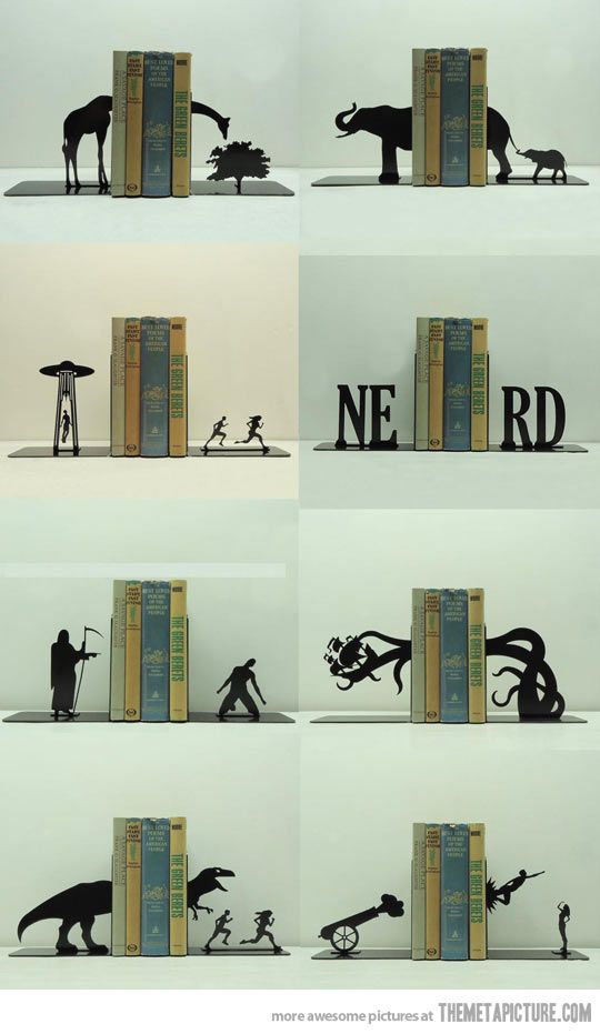 Awesome bookends…