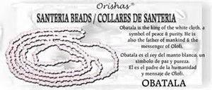 Santeria Beads for God Obatala