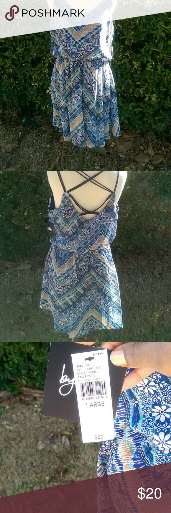 Dress Multi color summer dress great for outdoor summer fun. by and by Dresses Mini