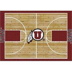 Utah Utes Basketball Court Rug
