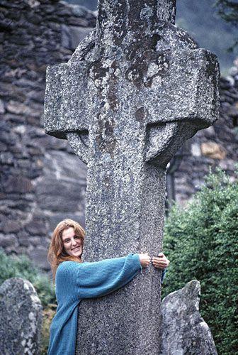 The healing cross at Glendalough Ireland