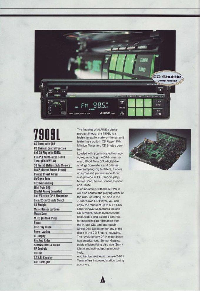 1990 Alpine Car Audio Brochure - Honda-Tech