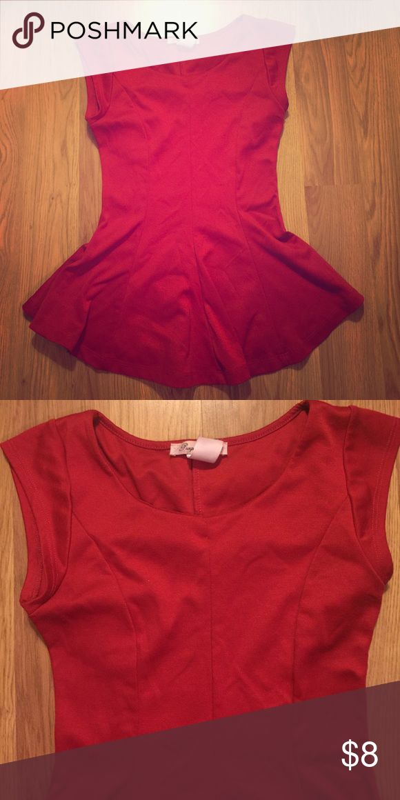 Red Peplum Top Cute red peplum top. Gently loved. Still lots of wear left. Offers welcome. Tops