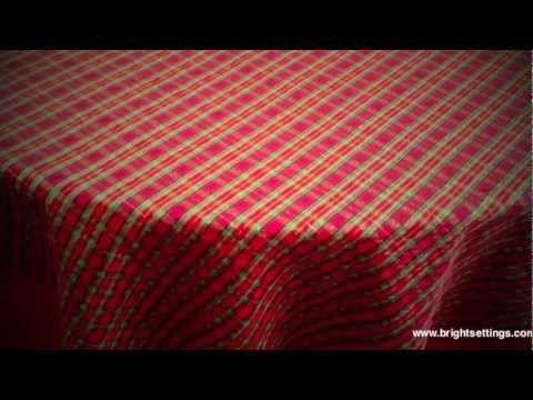 Celebration Plaid Tablecloth Fabric
