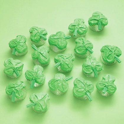 Shamrock Cupcakes via Spoonful