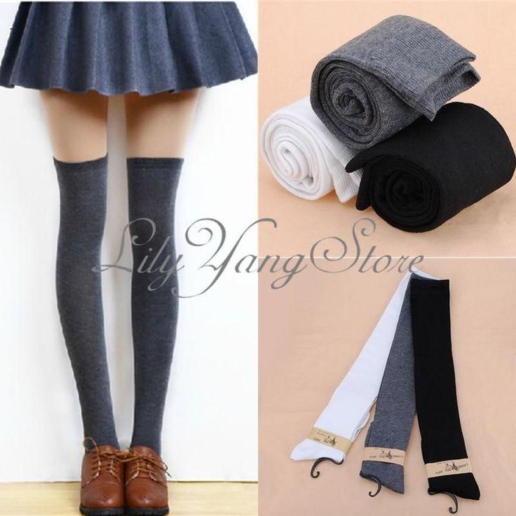 Calze Autoreggenti Parigine Over Knee Donna Moda Caldo Socks Stockings Cotone