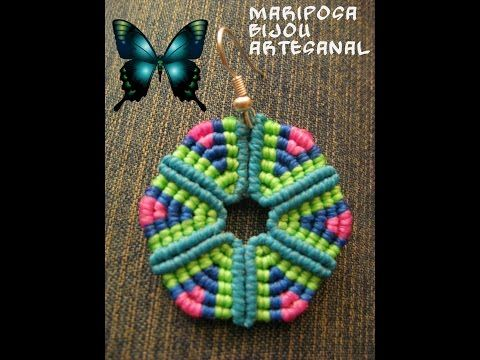 Tutorial circulo triangular en macrame - YouTube
