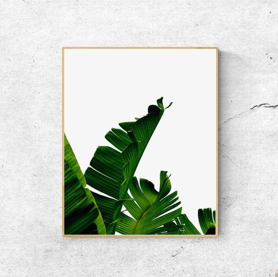 Banana leaf print, Palm leaf, Scandinavian print, Wall art prints, Palm tree print, Nature prints, Large Printable wall art, Modern print