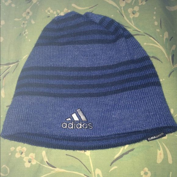 Adidas women beanie reverse side This is a Adidas beanie reverse side Size: One size Color: Blue  VERY GOOD CONDITION Adidas Accessories Hats