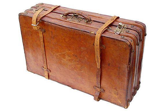 antique leather suitcase or portmanteau antiques. Black Bedroom Furniture Sets. Home Design Ideas