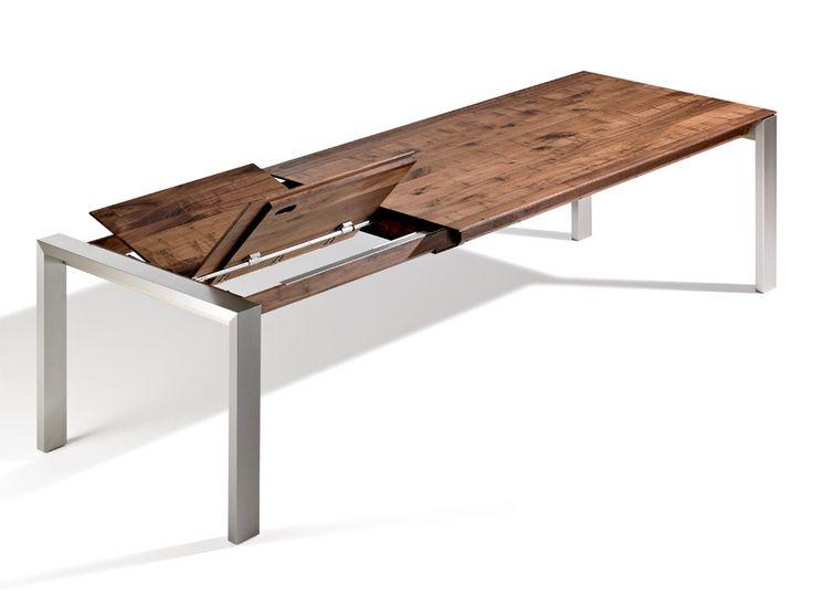 Esstisch ausziehbar holz edelstahl  Die besten 25+ Massivholztisch ausziehbar Ideen auf Pinterest ...