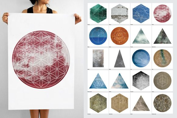 Large Geometric Textures - 20 items by Offset on Creative Market