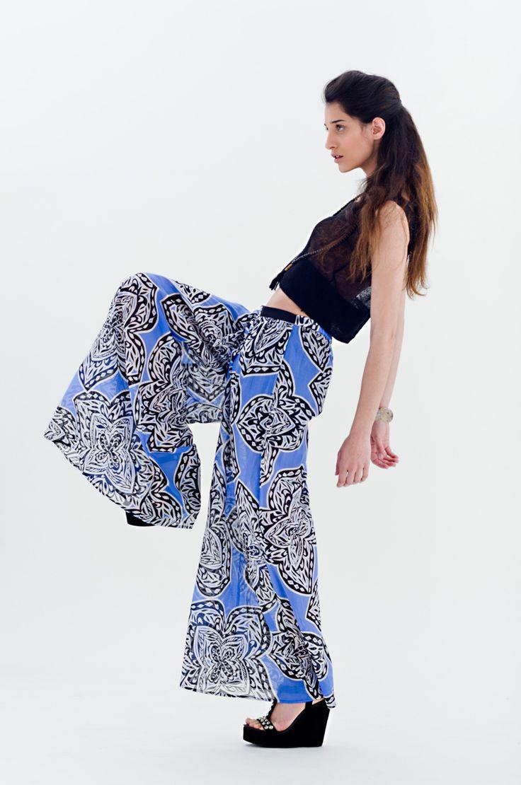 Wide floral pants   Antonella Boutique #Marella Dorotea #Wide #Pants #fashion #boutique #floral #AntonellaBoutique
