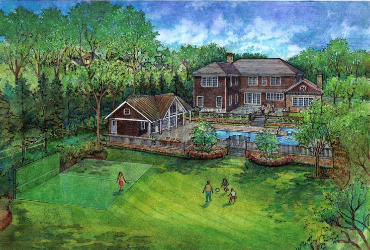 New Pool House in Short Hills, NJ by Clawson Architects.  We successfully secured a variance for our clients and ground broke in July of 2011.