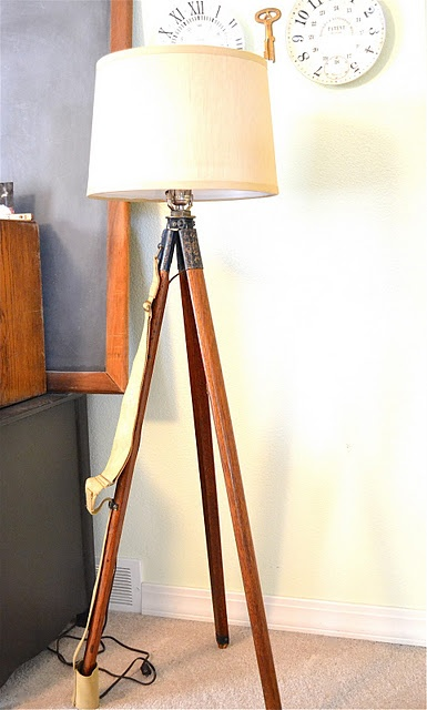 how to make a tripod lamp by Meridian Road: Meridian Road, Tripod Lamps, Diy'S, Diy Lamps Shades Candles, Diy Tripod, Bright Ideas Lamps, Roads