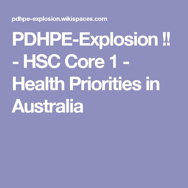 PDHPE-Explosion !! - HSC Core 1 - Health Priorities in Australia