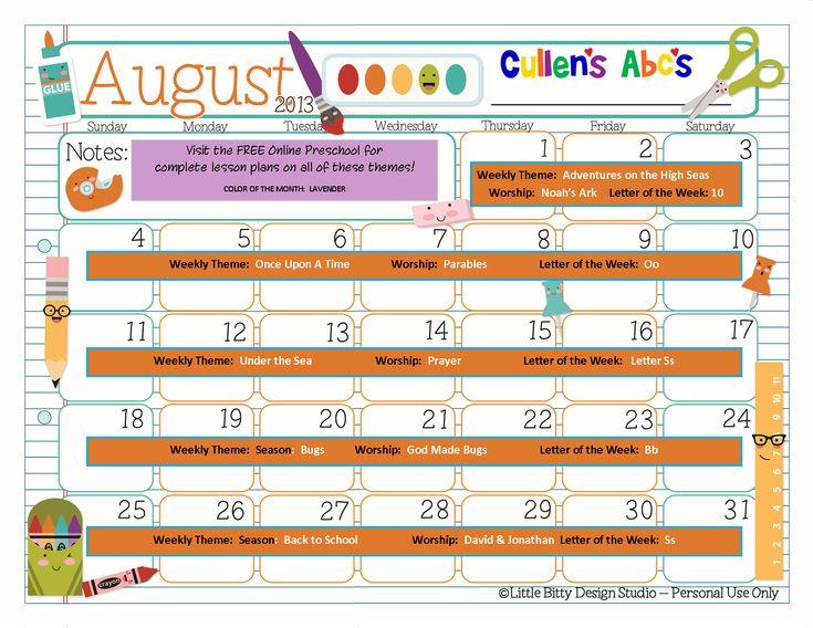 Kindergarten Calendar Time Lesson Plan : Best images about preschool printables on pinterest