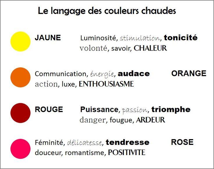 52 best le langage des couleurs images on pinterest projects colors and life - Le langage des couleurs ...