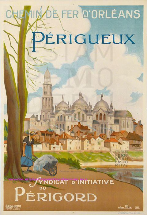 Néon Félix 1924 - Chemin de fer d'Orléans- Périgueux  - Chef-lieu de la Dordogne depuis 1791http://www.tourisme.fr/948/office-de-tourisme-perigueux.htm