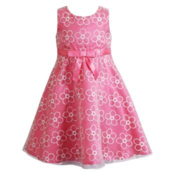 Youngland Floral Embroidered Organza Dress - Girls 4-6x