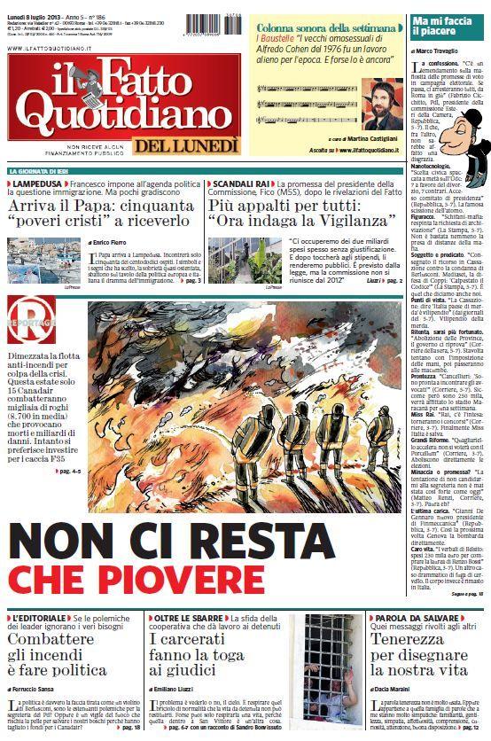 Il Fatto Quotidiano (08-07-13)Italian | True PDF | 20 pages | 10,51 Mb