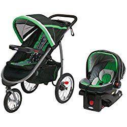 Graco Fastaction Fold Jogger Click Connect Travel System, Fern Green