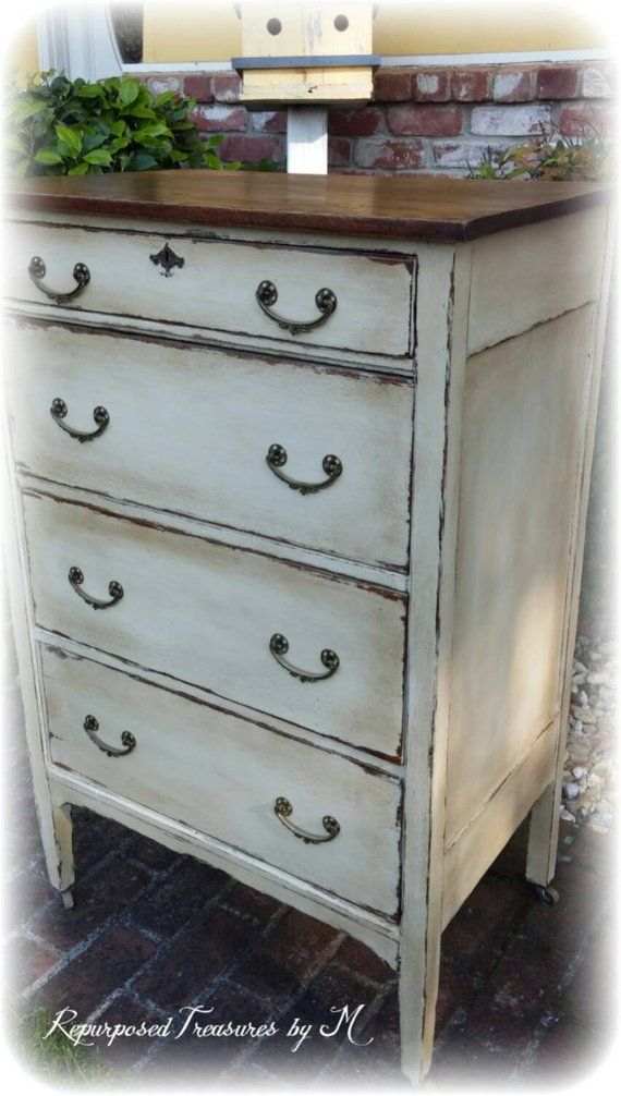 Sold Distressed Antique Dresser Shabby Chic Etsy