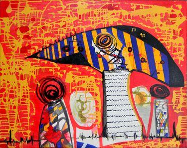 "Saatchi Art Artist Cruz Artista Colombiano; Painting, ""Frecuencia 7.777"" #art"
