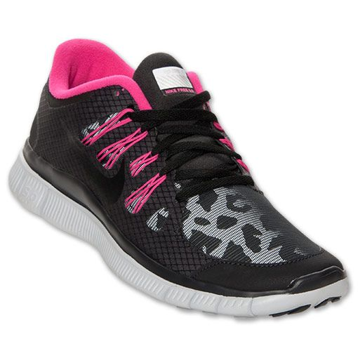 Women's Nike Free 5.0 Shield Running Shoes | FinishLine.com | Black/Pink