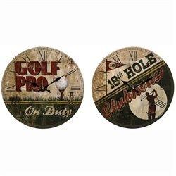 Distressed Vintage Golf Pro Wall Clocks | Vintage Golf Room ideas | P ...