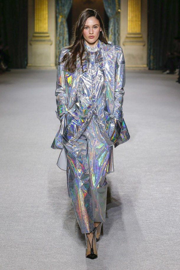 dcdb6ed7 Balmain Fall 2018 shows us how to wear a holographic suit. #sequin ...