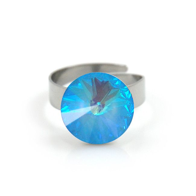 #applepiepieces #bluemonday Polestar XL ring blue opal from Applepiepieces