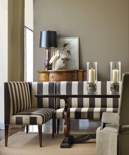 Lee's corner and armless banquette seating is available in Lee fabrics or your own material, for truly custom designs.