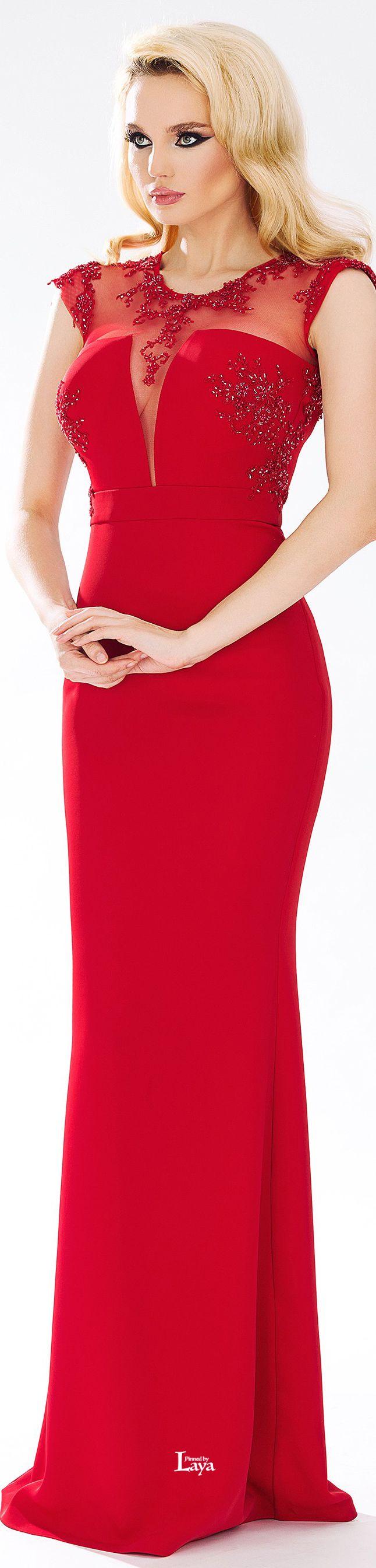 CRISTALLINI.          Spring/Summer 2015.           Evening Dress.