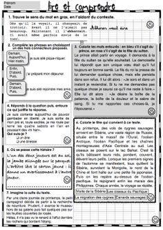 3e-4e année ; fichiers de lecture, compréhension (Gammes) + Autres ressources…