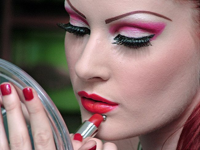 professional red lipstick   make up, professional, red, paint, lipstick