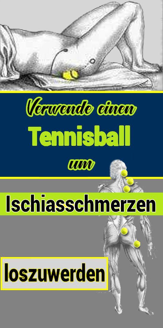 Verwende einen Tennisball, um Ischiasschmerzen loszuwerden