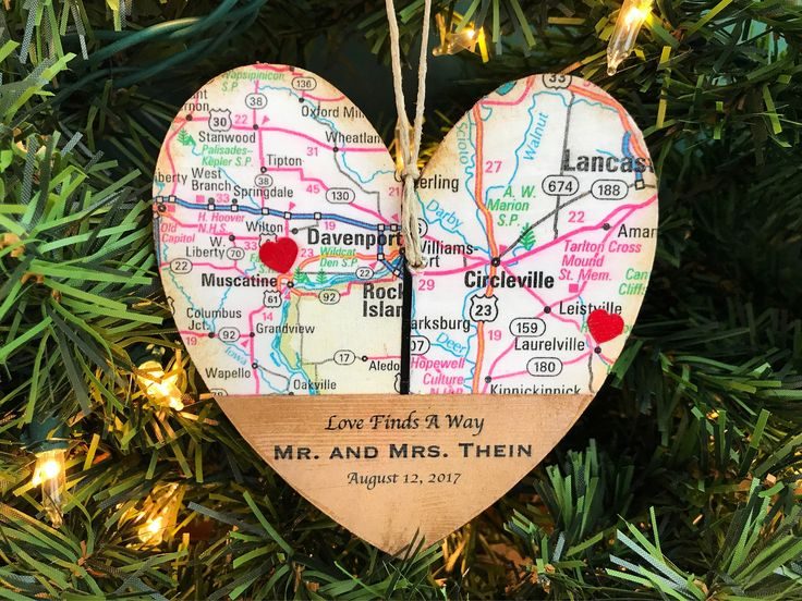 Long Distance Relationship Ornament, Long Distance Relationship Boyfriend, Long Distance Relationship Gifts, Long Distance Map Ornament, LDR by AtHomeWithWords on Etsy https://www.etsy.com/listing/489218890/long-distance-relationship-ornament-long