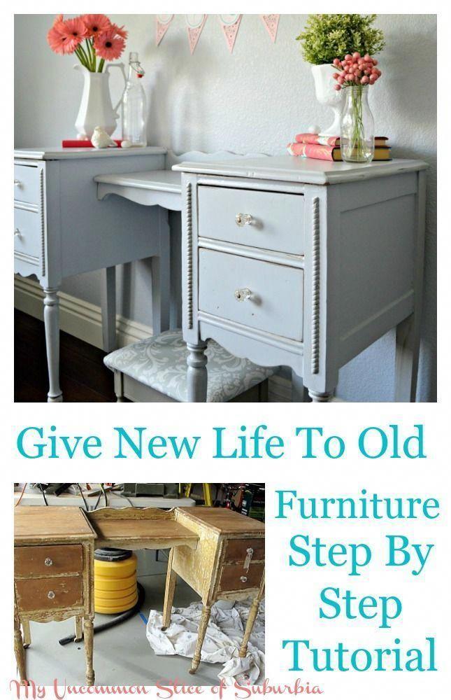 Wie man einen alten Schreibtisch auffrischt, Schritt für Schritt Anleitung, wie man alten … – #Desk …