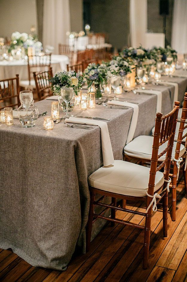Dress up your tables in trendy tweed. | 31 Beautiful Fall Wedding Ideas You'll Want To Try Immediately