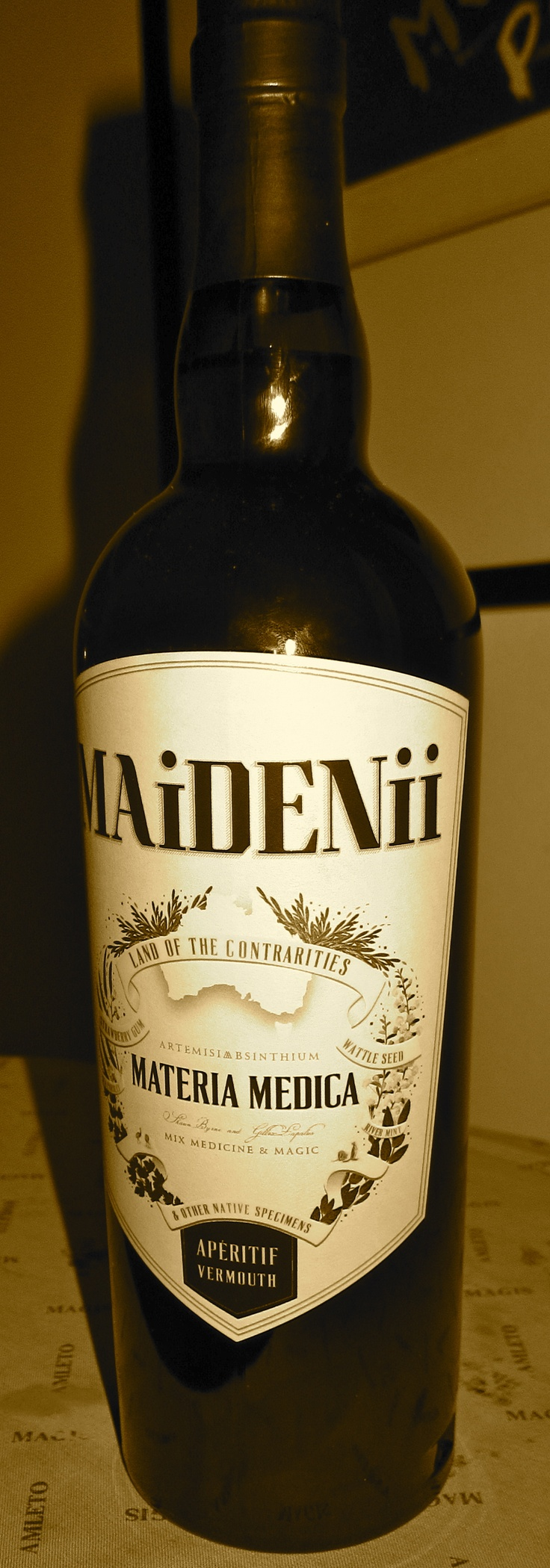 the Aussie vermouth - MAiDENii MATERIA MEDICA. Loving this delightful drop.