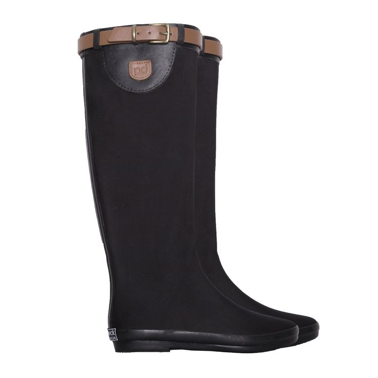 Hard To Find Monochrome Style.  Peta strap tall wellies - yes please!