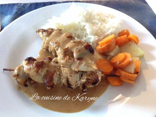 La cuisine de Karyne: Brochettes de porc satay