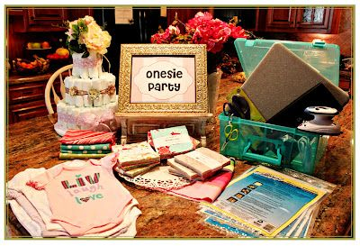 """Moda... the Cutting Table: A """"Charm""""ing Baby Shower"""