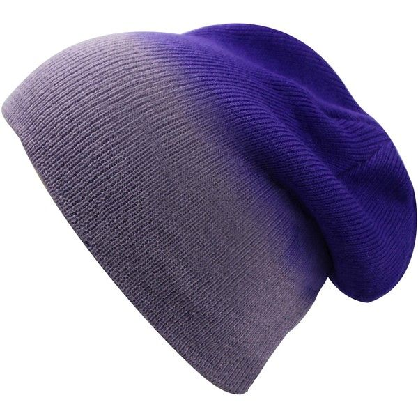 Purple Ombre Gradient Beanie Skull Cap Hat ($15) ❤ liked on Polyvore featuring accessories, hats, purple, purple hat, beanie hats, beanie skull cap, skull cap hat and caps hats