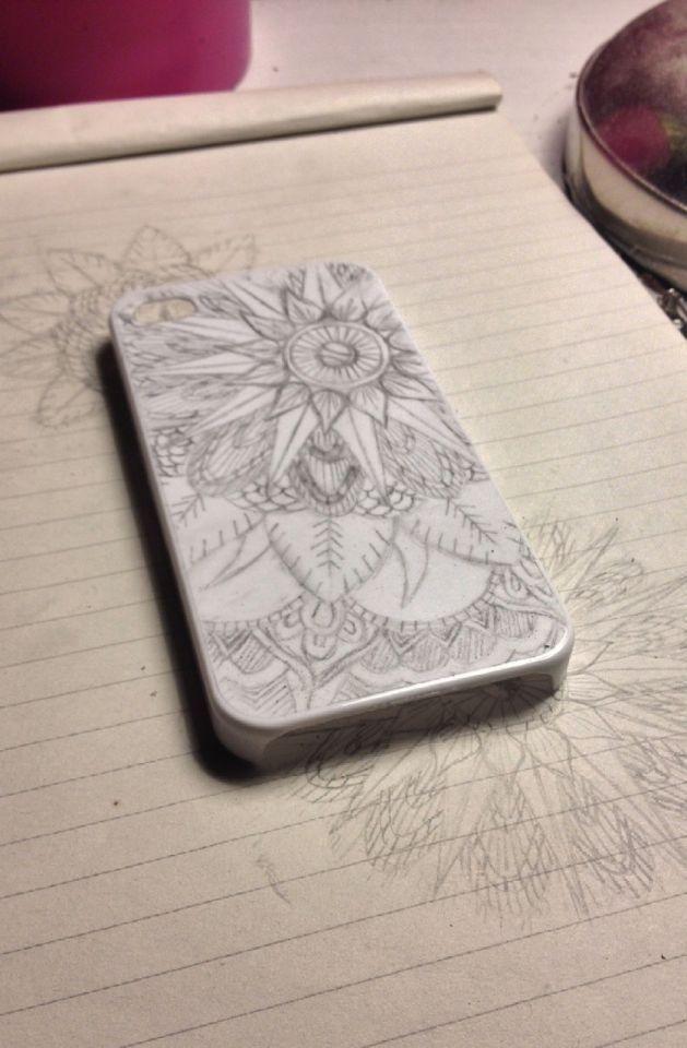 Customised phone case using Sharpies.