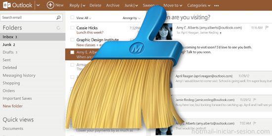 Cómo liberar espacio de almacenamiento en Outlook.com / Hotmail
